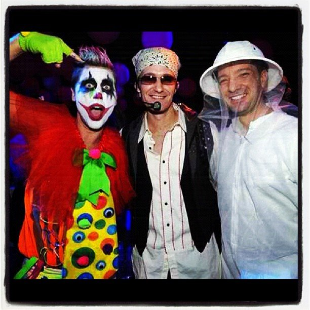 JC Chasez and Lance Bass shared a photo at Matthew Morrison's Halloween party that took place in LA on Sunday night. Source: Instagram user lancebass