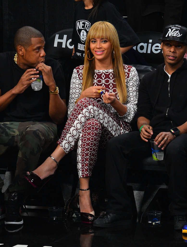 Beyoncé Knowles and Jay-Z went to the Barclays Center.