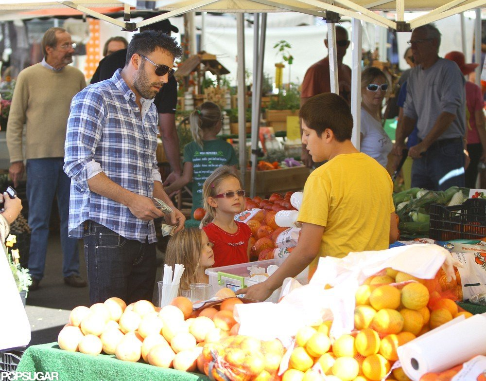 Ben Affleck bought fruit.