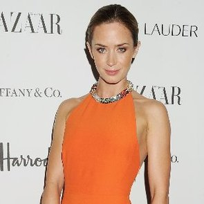Emily Blunt Wearing Orange Dress