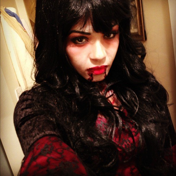Christina Milian was a thirsty vampire on Halloween night. Source: Instagram user christinamilian