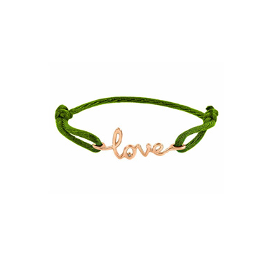 Avanessi One Love Green Cord Bracelet