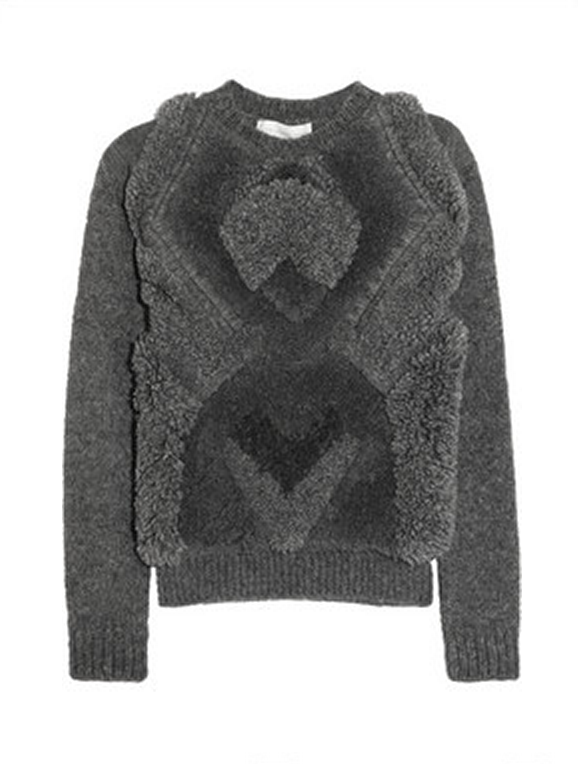 This Stella McCartney textured alpaca-blend sweater ($2,090) is the ultimate splurge, and well worth it if you ask us.