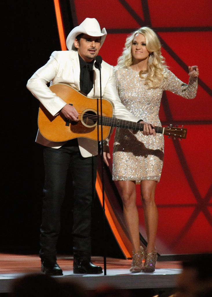Brad Paisley played onstage in Nashville at the Country Music Association Awards.