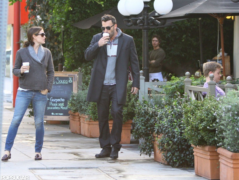 Ben Affleck sipped coffee with Jennifer Garner.
