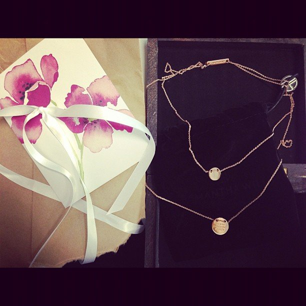 It was Ali's birthday in October — and the lucky duck was sent a beautiful Samantha Wills necklace by the lady herself!