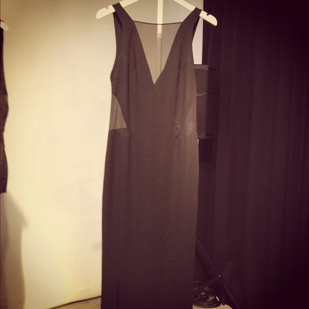 Hello, THE black dress. Elin Kling for Marciano, course.