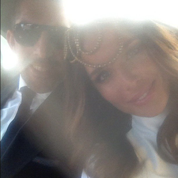 Newlyweds Braith Anasta and Jodi Gordon on their way to Derby Day. Source: Instagram user jodigordon