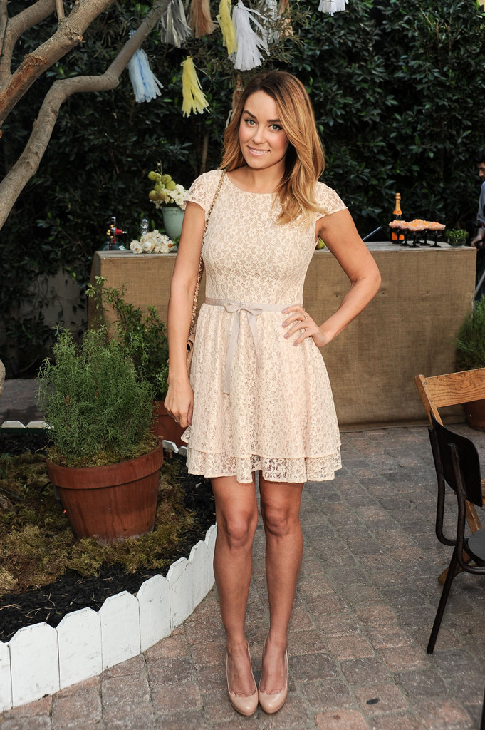 Lauren Conrad posed at ShoeMint's anniversary celebration.