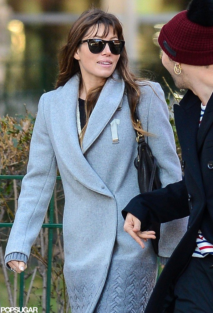 Jessica Biel chatted with a male friend in NYC.