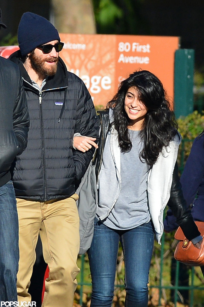 Jake Gyllenhaal's female friend hung onto his arm in NYC.