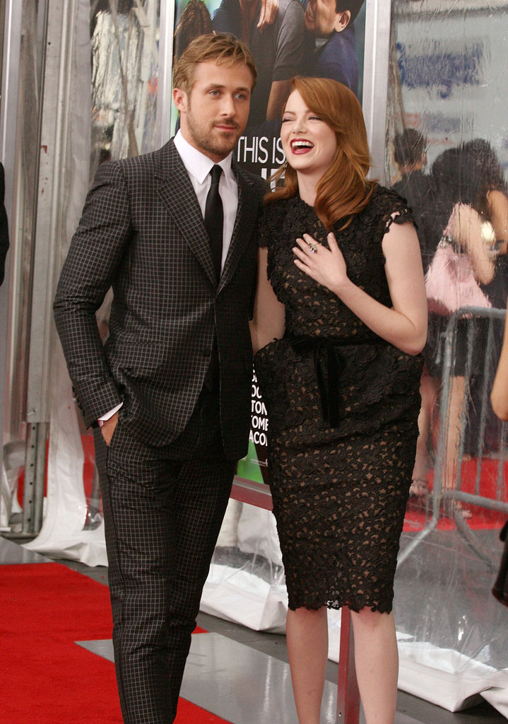 Emma Stone chuckled alongside Ryan Gosling at the Crazy, Stupid, Love premiere in July 2011.