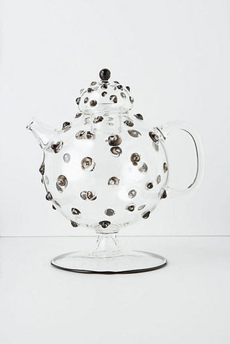 Hobnail Glass Tea Pot