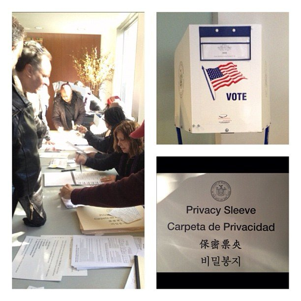 Charlotte Ronson captured a photo of her voting poll. Source: Instagram user cronson