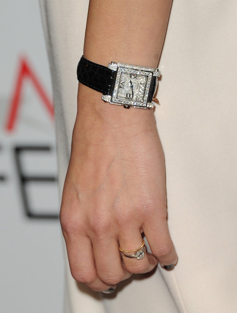 Marion completed her look with a diamond-studded watch.