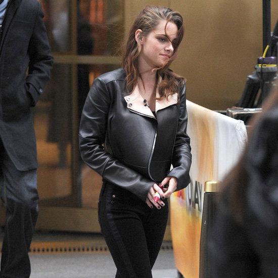 Kristen Stewart Wearing Black Tuxedo Jeans