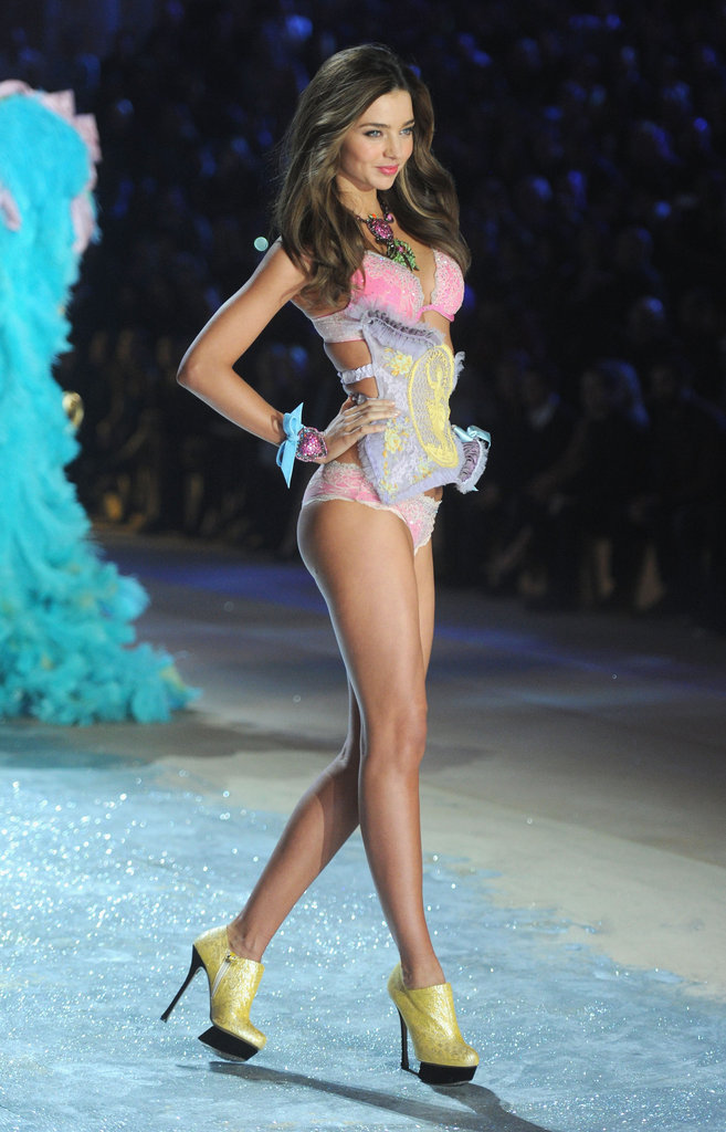 Miranda Kerr walked on the runway.