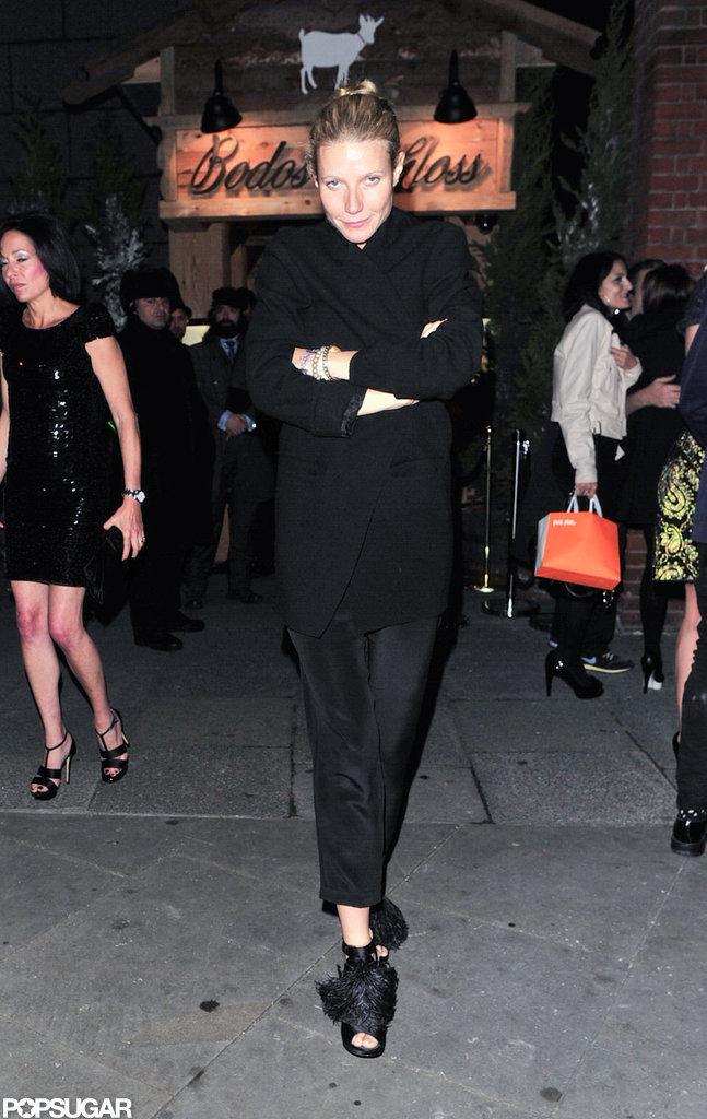 Gwyneth Paltrow walked in London.