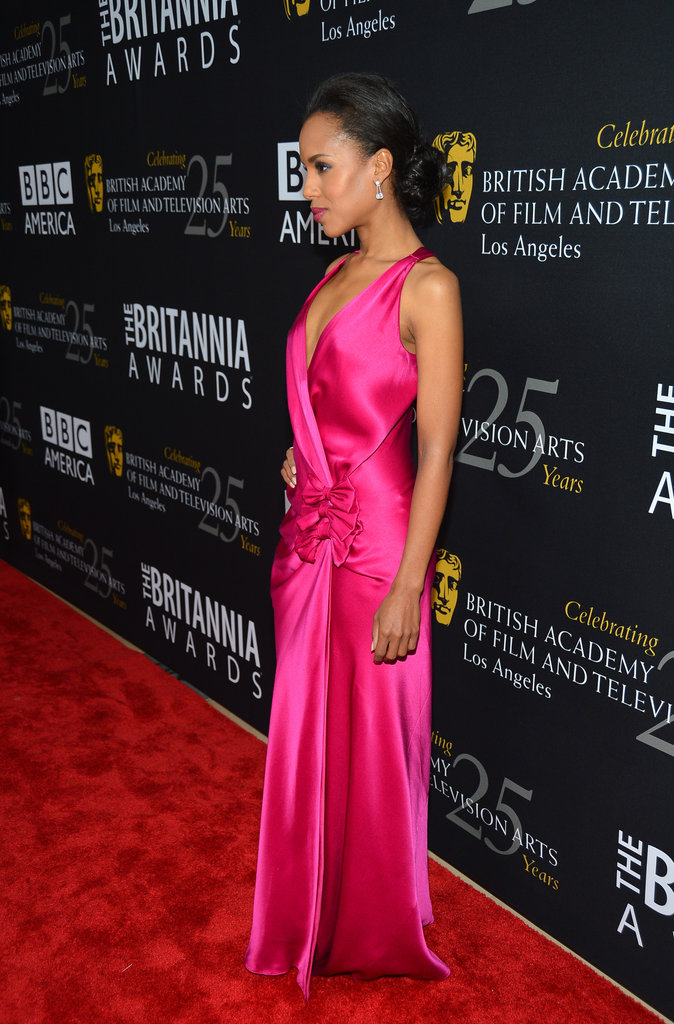 Kerry Washington stunned in a bright pink gown.