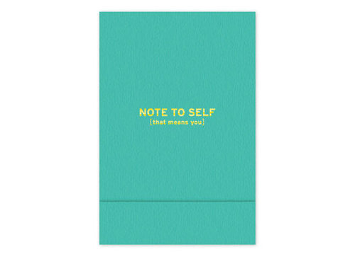 I'm such a sucker for giving and getting notebooks, and quite frankly, I'm an equal opportunist when it comes to the kind I like most. This time around, I'm stocking up on Knock Knock's Note to Self pocket notebook ($6) for myself (and to give as stocking stuffer one-offs). It's cute, quirky, and the perfect size for making lists. — Marisa Tom, associate editor