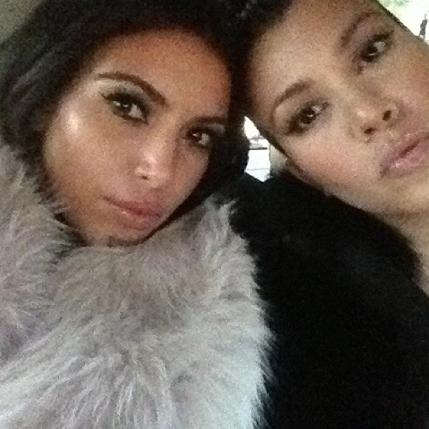 Kim Kardashian spent some time with her sister Kourtney. Source: Instagram user KimKardashian