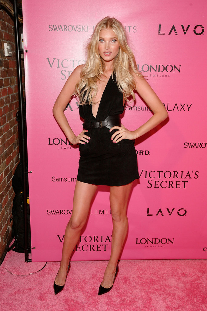 Elsa Hosk transitioned from the show to the party in a sexy LBD.
