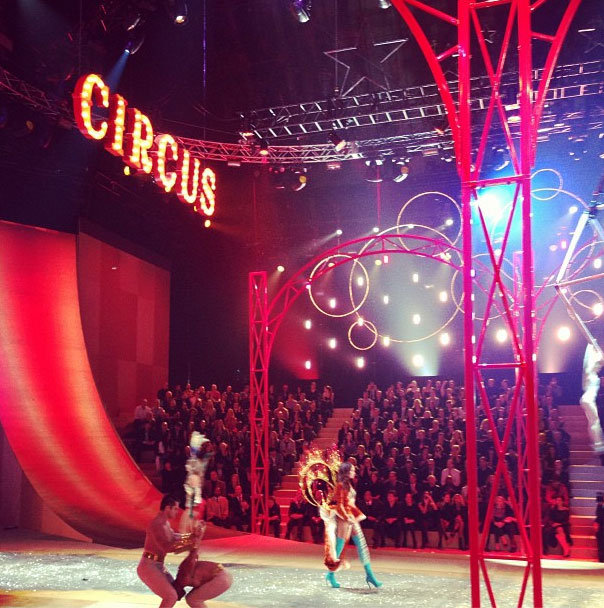 The circus rolled into town for the Victoria's Secret fashion show. Twitter user:@leyaedelstein
