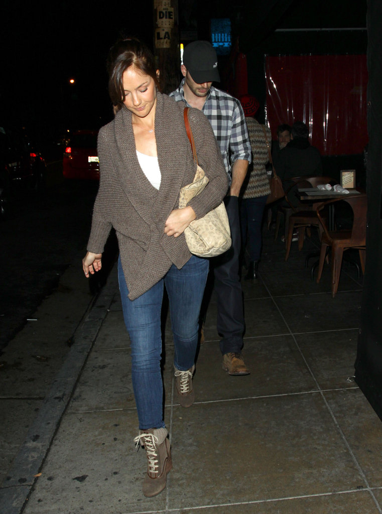 Minka Kelly and Chris Evans were together.