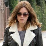 Get Mandy Moore's Shearling Leather Jacket and Snake Sneakers!