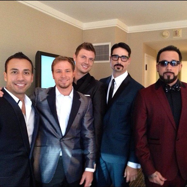 The Backstreet Boys suited up for the AMAs. Source: Instagram user backstreetboys