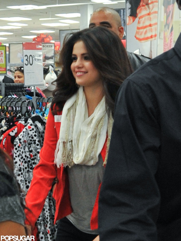 Selena Gomez had a smile on her face to promote her line at a Kmart outside of NYC.