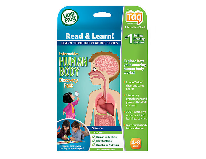 For 4-Year-Olds: LeapFrog Tag Interactive Human Body Discovery Pack