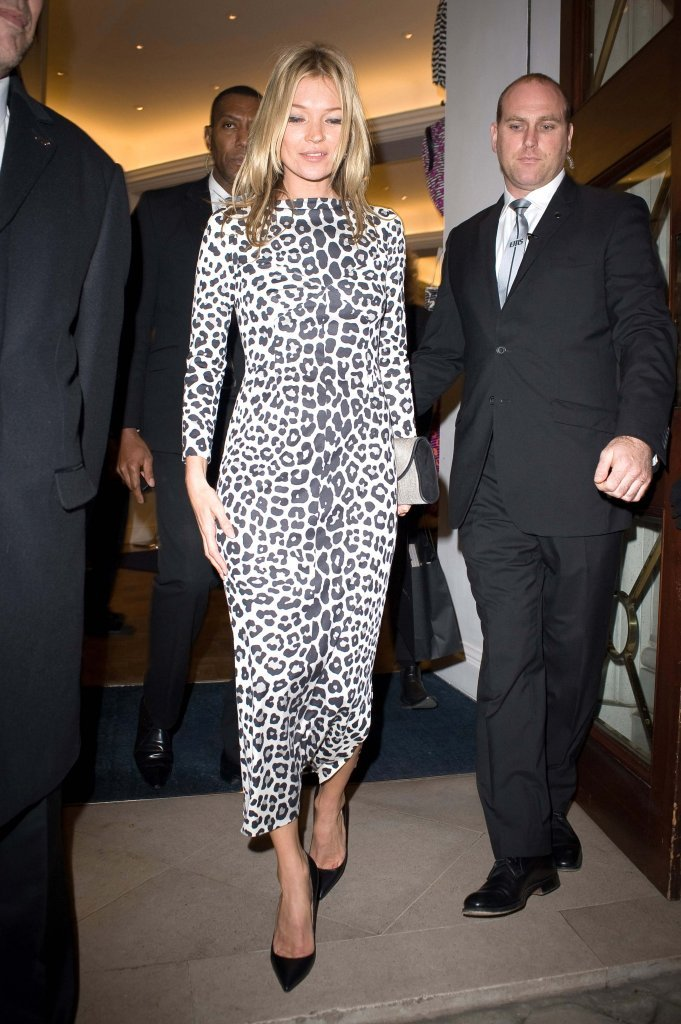 Kate Moss arrived at a book signing in London.
