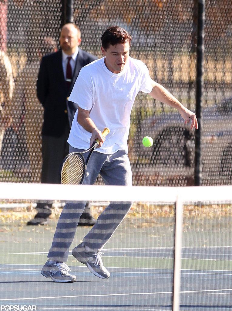 Leonardo DiCaprio ran for the ball.