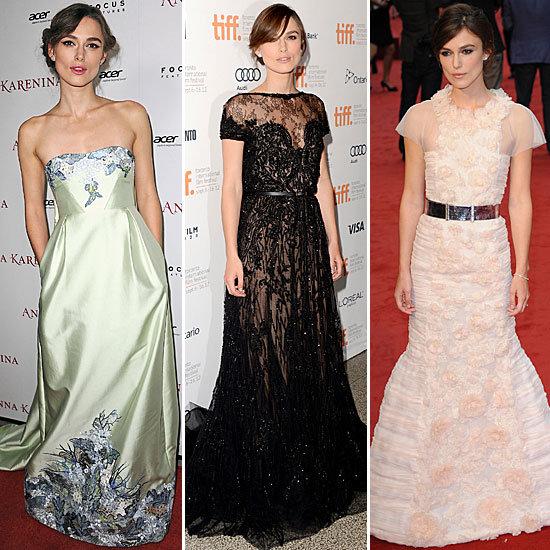 Keira Knightley Anna Karenina Premiere Dresses