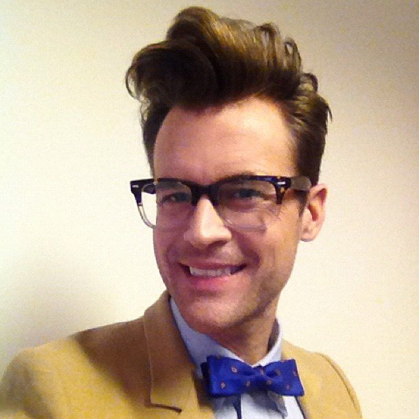 Brad Goreski showed off an impressive pompadour. Source: Instagram user mrbradgoreski