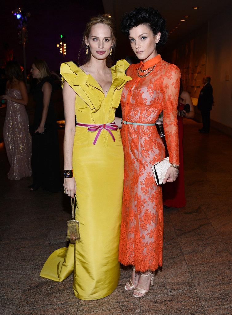 Lauren Santo Domingo and Jessica Stam