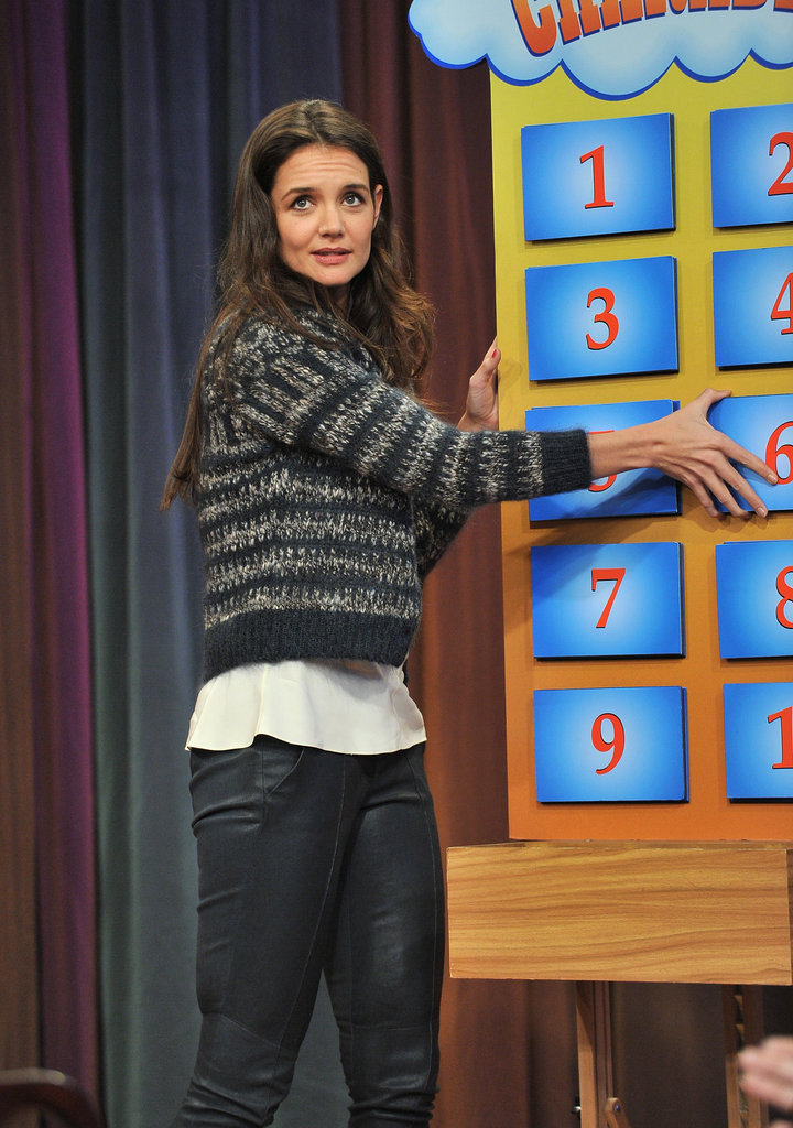 Katie Holmes played a game.