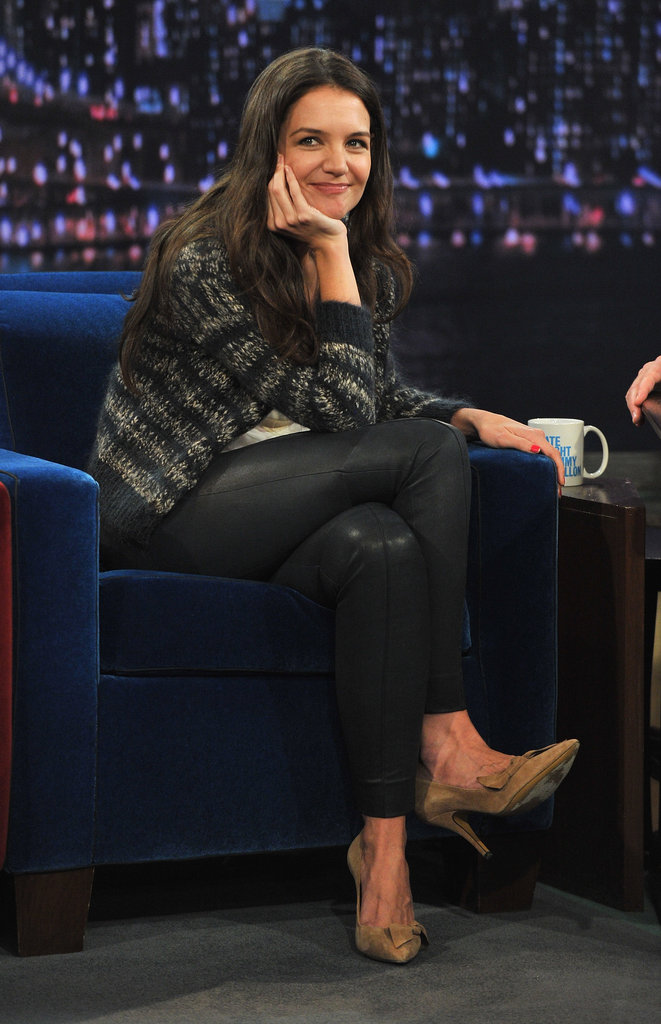 Katie Holmes stopped by Late Night With Jimmy Fallon.