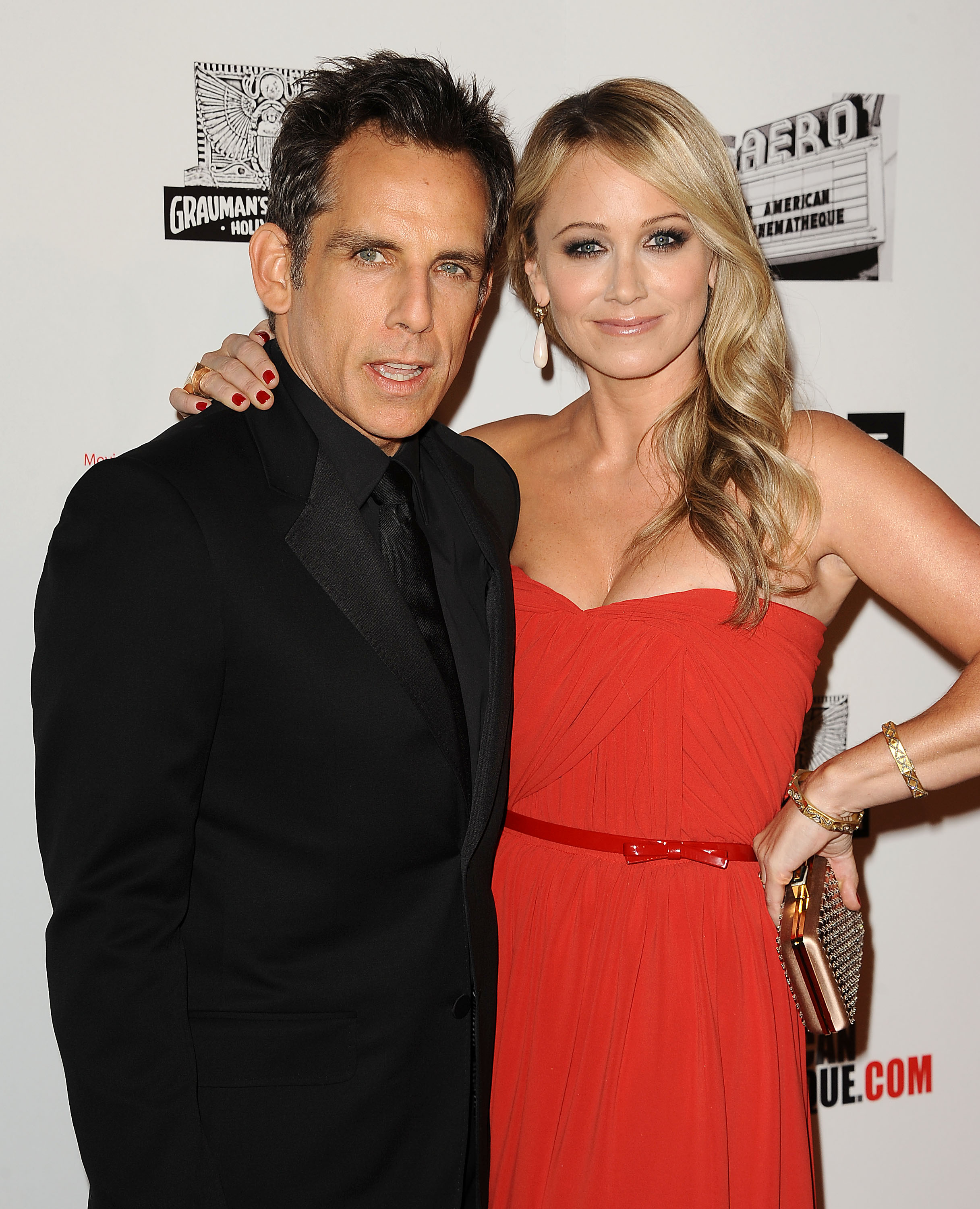 Ben Stiller and wife Christine Taylor attended the ...