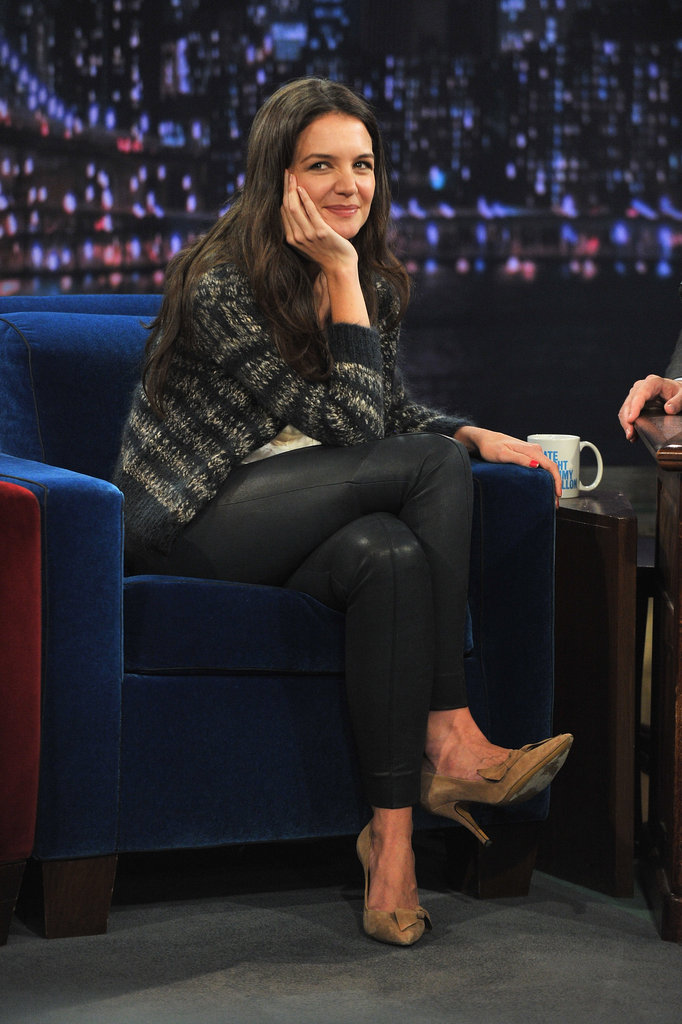 Katie Holmes chatted with Jimmy Fallon.