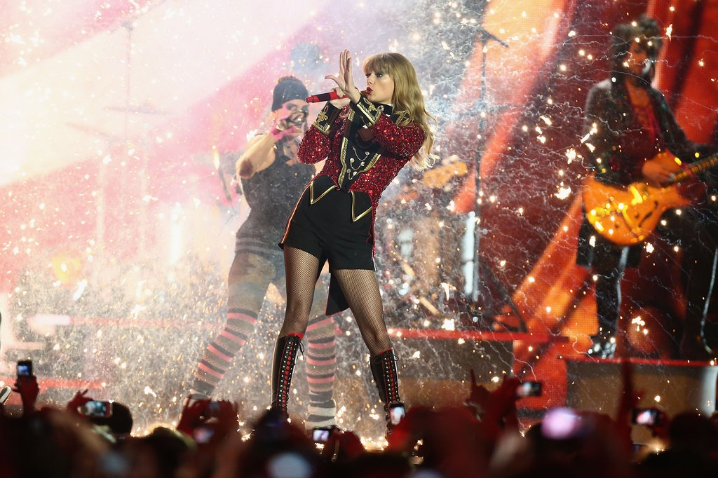 Taylor Swift performed at the MTV EMAs in Frankfurt, Germany, while battling a cold on November 12.