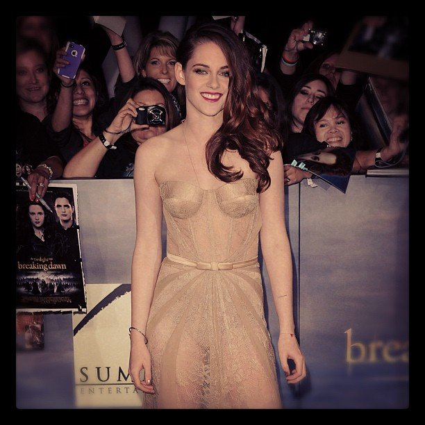 We were all dying to see what Kristen Stewart would wear to the Breaking Dawn Part 2 premiere, and she didn't disappoint in this Zuhair Murad gown.