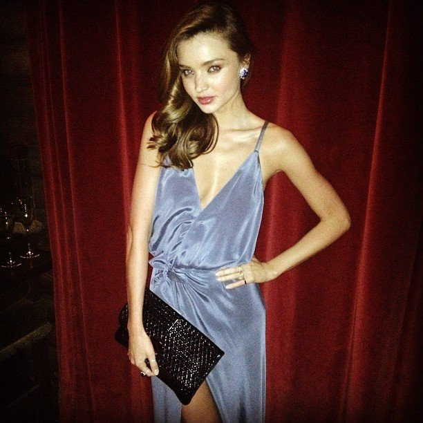 Miranda Kerr looked gorgeous in blue at W Magazine's 40th Anniversary party. Source: Instagram user mirandakerrverified