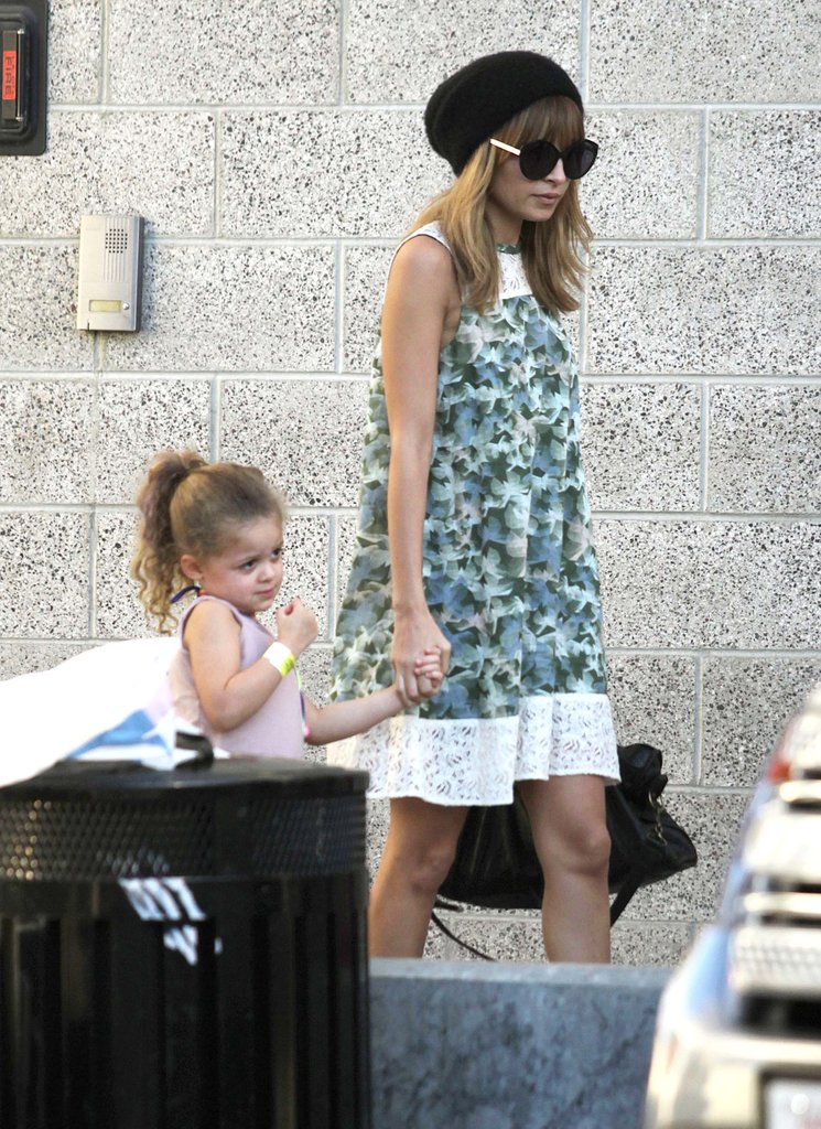 Nicole Richie and Harlow Madden were hand in hand on the way to a concert in LA.
