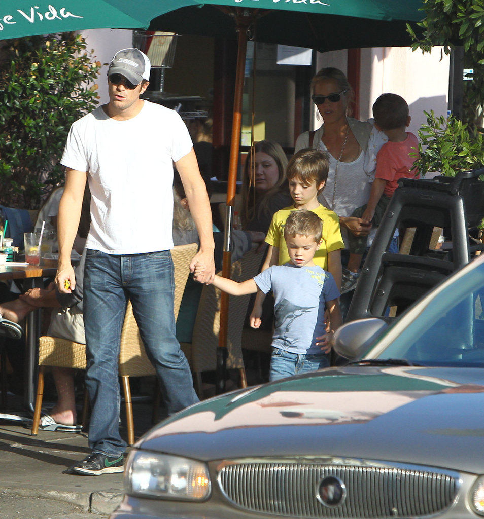 Oliver Hudson and his family stepped out for his mom Goldie Hawn's birthday.