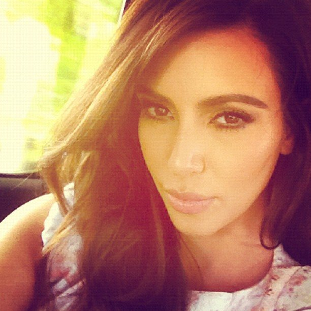 Kim Kardashian took a self-portrait. Source: Instagram user kimkardashian