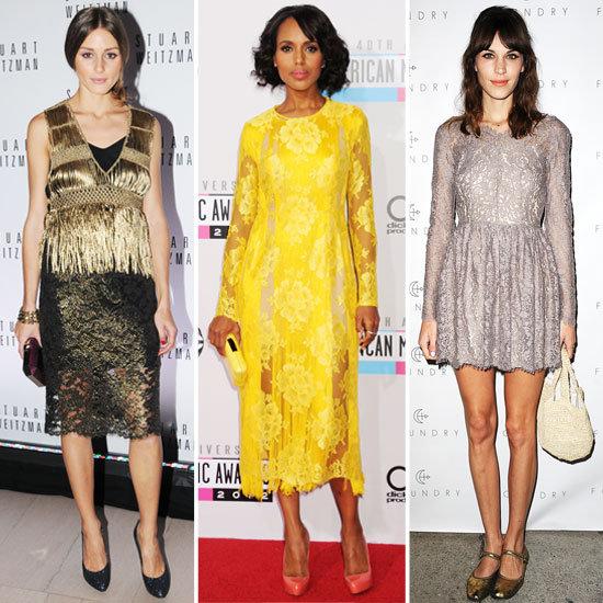 Celebrities Wearing Lace Dresses 2012