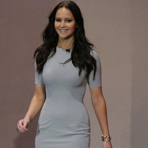 Jennifer Lawrence Wearing Gray on Tonight Show | Pictures