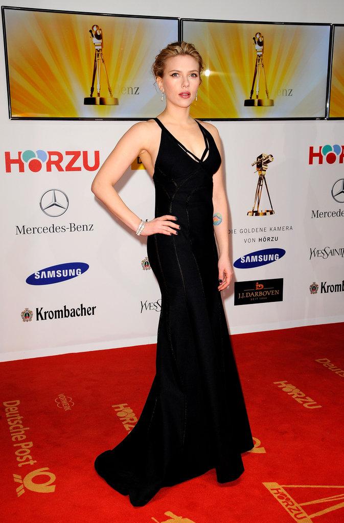 Scarlett looked great at Berlin's Goldene Kamera awards in 2012.